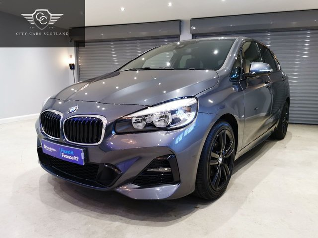 "USED 2018 68 BMW 2 SERIES 1.5 218I M SPORT ACTIVE TOURER 5d 139 BHP HEATED LEATHER SEATS + 18"" GLOSS BLACK ALLOYS + SATELLITE NAVIGATION"