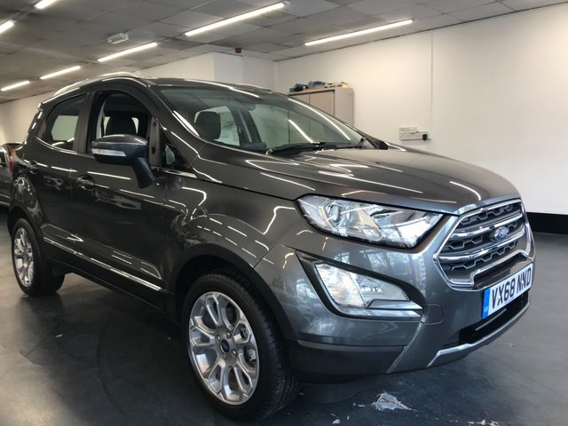 USED 2018 68 FORD ECOSPORT 1.0 TITANIUM 5d 124 BHP TOUCHSCREEN SATNAV, REAR CAMERA AND REAR SENSORS, 1 OWNER FROM NEW