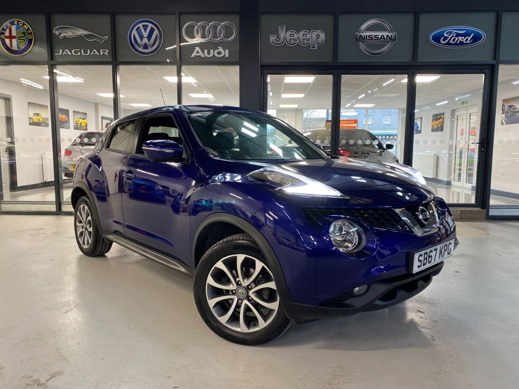USED 2017 67 NISSAN JUKE 1.6 Tekna XTRON 5dr Complementary 12 Months RAC Warranty and 12 Months RAC Breakdown Cover Also Receive a Full MOT With All Advisory Work Completed, Fresh Engine Service and RAC Multipoint Check Before Collection/Delivery