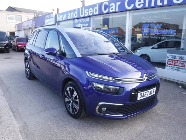 USED 2018 67 CITROEN C4 GRAND PICASSO 1.6 BLUEHDI FLAIR S/S EAT6 5d 118 BHP *** FIANCE & PART EXCHANGE WELCOME *** 1 OWNER*PANORAMIC ROOF PART LEATHER*7SEATS*SERVICE HISTORY*SATNAV*DAB