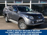 USED 2017 67 MITSUBISHI L200 2.4 DI-D BARBARIAN 4dr 5 Seat Double Cab Pickup 4x4 AUTO with Air Conditioning, Bluetooth, Hardtop Canopy with Rear Load Liner, Side Steps, Towbar and Roof Rails. 3 Main Dealer Service Stamps. Ready to Finance and Drive Away One Registered Keeper From New