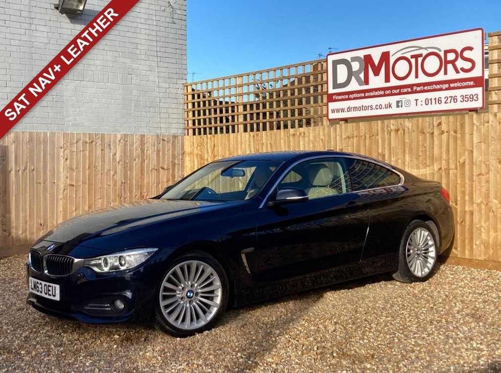 USED 2013 63 BMW 4 SERIES 2.0 420D LUXURY 2d 181 BHP *** 6 MONTHS NATIONWIDE GOLD WARRANTY ***
