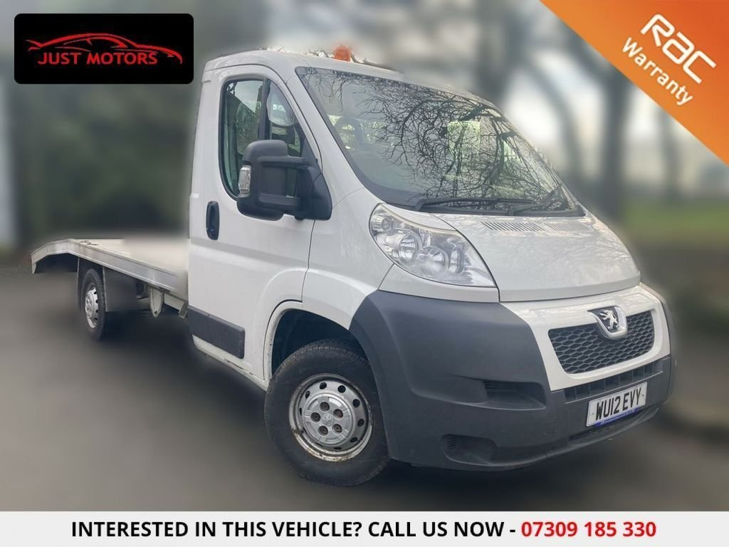 USED 2012 12 PEUGEOT BOXER 2.2 HDI 335 L2 130 BHP NEW RADIATOR + NEW STEALTH WINCH FLAT BED +NO VAT + NEW WINCH