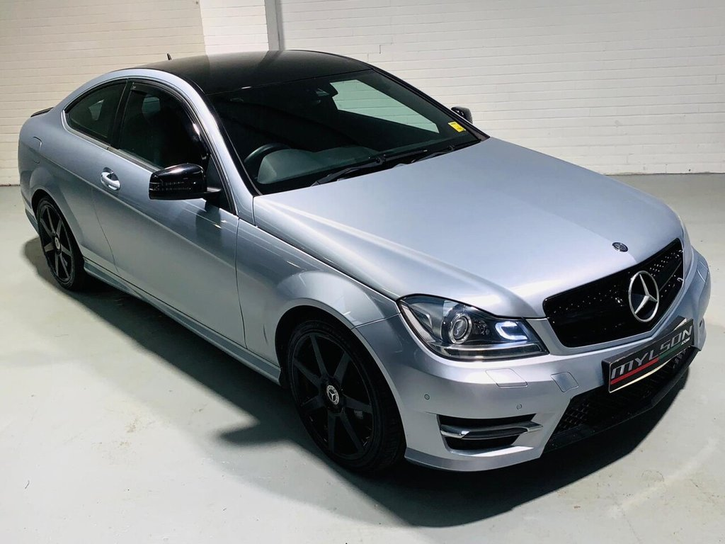USED 2013 62 MERCEDES-BENZ C-CLASS 2.1 C250 CDI BLUEEFFICIENCY AMG SPORT 2d 204 BHP Rare Special Order Tellurite Silver, Black Styling Pack, Low Mileage