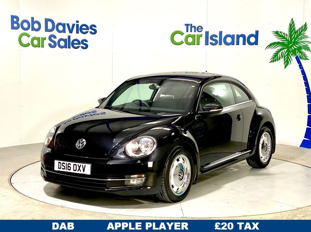 "USED 2016 16 VOLKSWAGEN BEETLE 2.0 DESIGN TDI BLUEMOTION TECHNOLOGY 3d 108 BHP Bluetooth Touch Screen Spoiler 17"" Alloys 52k miles FSH"