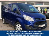 USED 2016 66 FORD TRANSIT CUSTOM 2.0 270 LIMITED LR P/V 129 BHP with Air Conditioning, Cruise control, Quick Clear Heated Windscreen, Bulkhead, Parking Sensors, Alloy Wheels & Rear Loading Door. 3 Service Stamps Most Recent December 2020.Now Ready to Finance and Drive Away Today Full Service History + One Owner From New
