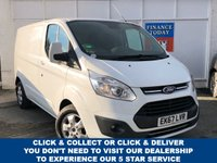 USED 2017 67 FORD TRANSIT CUSTOM 2.0 270 LIMITED Low Roof Panel Van with Air Conditioning, Alloy Wheels, Bulkhead, Bluetooth Kit, Cruise Control, Heated Seats, Parking Sensors, Rear & Side Loading Doors. Recent Service & MOT, 2 New Tyres Ready to Finance and Drive Away One Owner From New