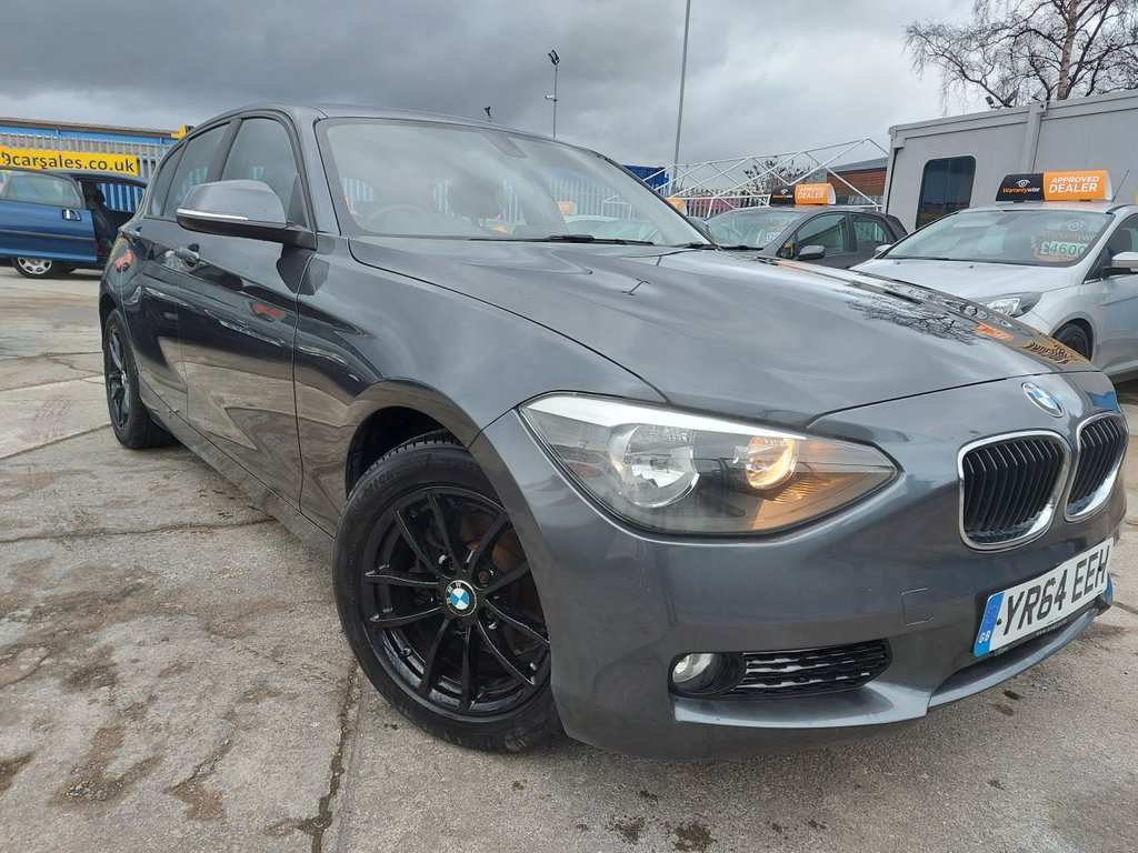 USED 2014 64 BMW 1 SERIES 1.6 116D EFFICIENTDYNAMICS BUSINESS 5d 114 BHP FULL LEATHER INTERIOR