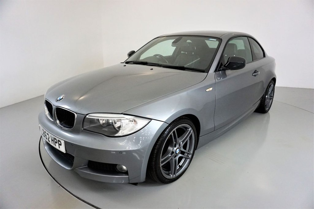 USED 2012 62 BMW 1 SERIES 2.0 118D SPORT PLUS EDITION 2d-2 FORMER KEEPERS-HEATED BLACK DAKOTA LEATHER-CRUISE CONTROL-REAR PARKING SENSORS-SUN PROTECTION GLASS-CLIMATE CONTROL