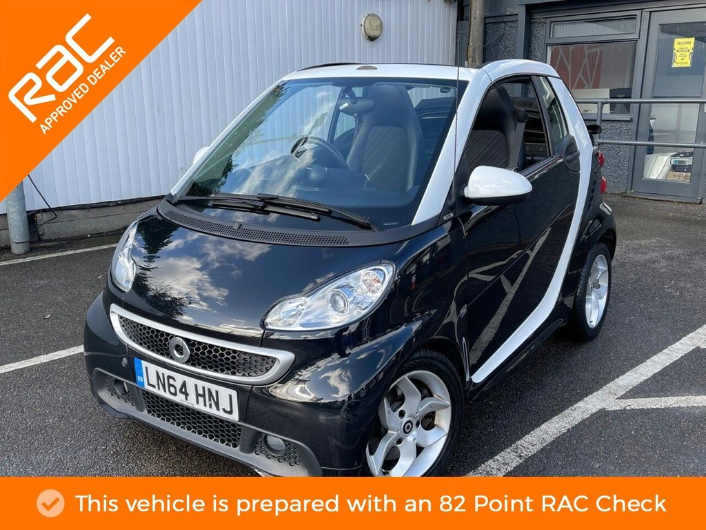 USED 2014 64 SMART FORTWO CABRIO 1.0 PULSE MHD 2d 71 BHP ONE OWNER, PART LEATHER