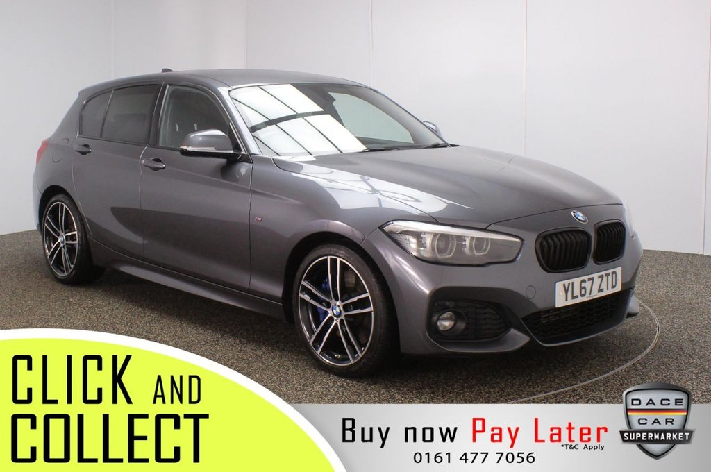 USED 2018 67 BMW 1 SERIES 2.0 118D M SPORT SHADOW EDITION 5DR AUTO 147 BHP FULL SERVICE HISTORY + SATELLITE NAVIGATION + HARMAN/KARDON PREMIUM SPEAKERS + PARKING SENSOR + BLUETOOTH + CRUISE CONTROL + AIR CONDITIONING + MULTI FUNCTION WHEEL + LED HEADLIGHTS + PRIVACY GLASS + DAB RADIO + AUX/USB PORTS + ELECTRIC WINDOWS + ELECTRIC MIRRORS + 18 INCH ALLOY WHEELS
