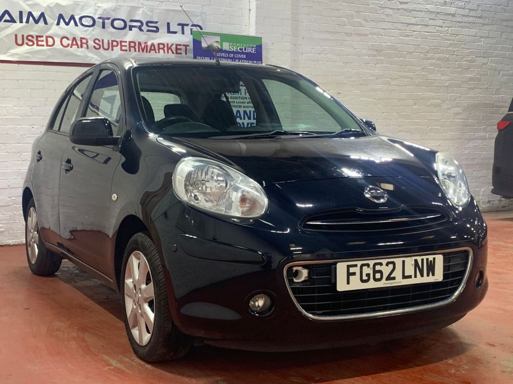 USED 2012 62 NISSAN MICRA 1.2 TEKNA DIG-S 5d 97 BHP ONLY 1 OWNER FROM NEW - LONG MOT TILL DEC 2021 - WARRANTY & BREAKDOWN COVER INCLUDED