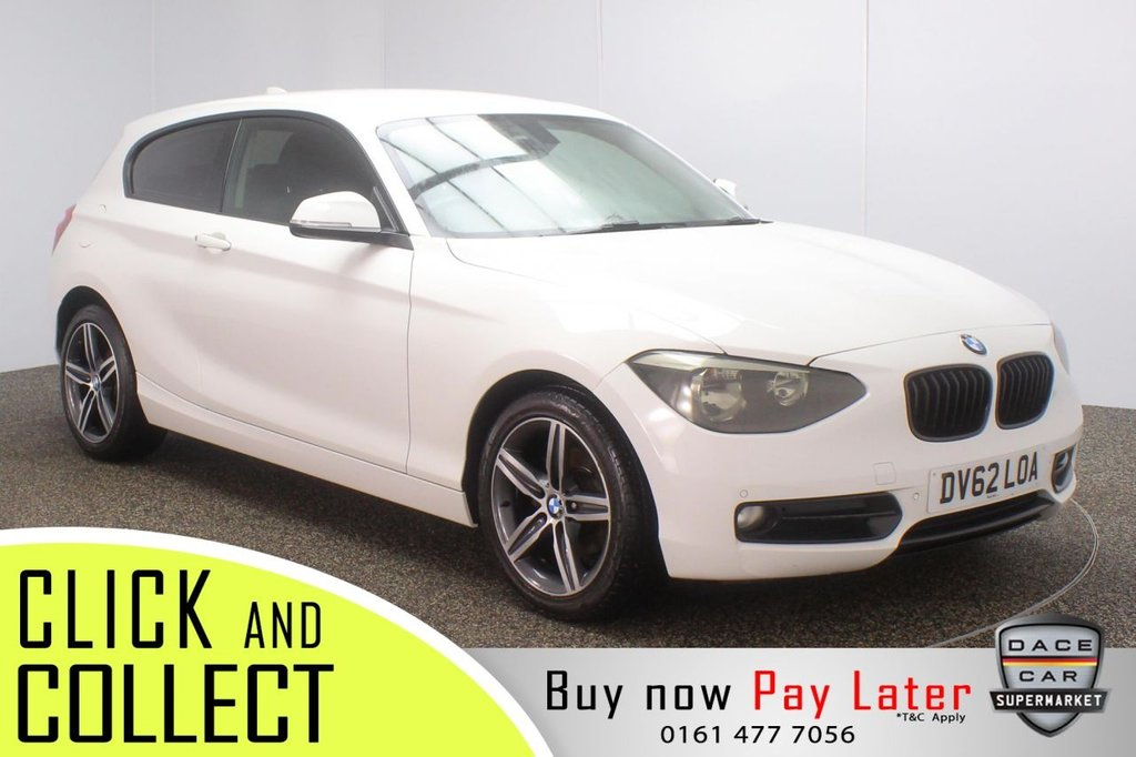 USED 2012 62 BMW 1 SERIES 1.6 116I SPORT 3DR 135 BH+ FULL SERVICE HSITORY FULL SERVICE HISTORY + PARKING SENSOR + BLUETOOTH + CRUISE CONTROL + AIR CONDITIONING + MULTI FUNCTION WHEEL + PRIVACY GLASS + RADIO/CD + AUX/USB PORTS + ELECTRIC WINDOWS + ELECTRIC DOOR MIRRORS + 17 INCH ALLOY WHEELS