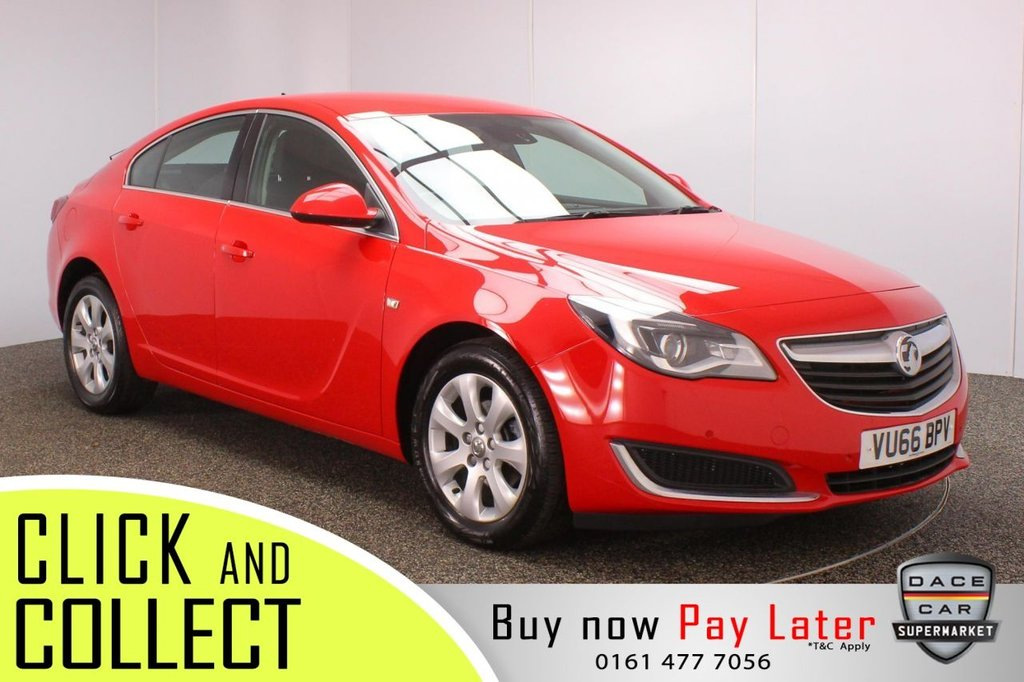 USED 2017 66 VAUXHALL INSIGNIA 1.6 TECH LINE CDTI 5DR 1 OWNER AUTO 134 BHP + SAT NAV + SERVIVE HISTORY SERVICE HISTORY + HALF LEATHER SEATS + SATELLITE NAVIGATION + PARKING SENSOR + BLUETOOTH + CRUISE CONTROL + CLIMATE CONTROL + MULTI FUNCTION WHEEL + XENON HEADLIGHTS + DAB RADIO + AUX/USB PORTS + ELECTRIC WINDOWS + ELECTRIC MIRRORS + 17 INCH ALLOY WHEELS