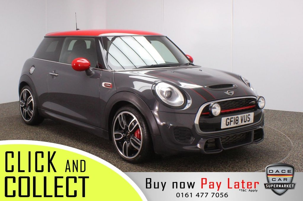USED 2018 18 MINI HATCH JOHN COOPER WORKS 2.0 JOHN COOPER WORKS CHILI PACK 3DR 1 OWNER AUTO 228 BHP FULL MINI SERVICE HISTORY + HALF LEATHER SEATS + SATELLITE NAVIGATION PROFESSIONAL + HEAD-UP DISPLAY + PARKING SENSOR + HARMAN/KARDON PREMIUM SPEAKERS + BLUETOOTH + CRUISE CONTROL + CLIMATE CONTROL + MULTI FUNCTION WHEEL + LED HEADLIGHTS + PRIVACY GLASS + DAB RADIO + AUX/USB PORTS + ELECTRIC WINDOWS + ELECTRIC/HEATED/FOLDING DOOR MIRRORS + 18 INCH ALLOY WHEELS