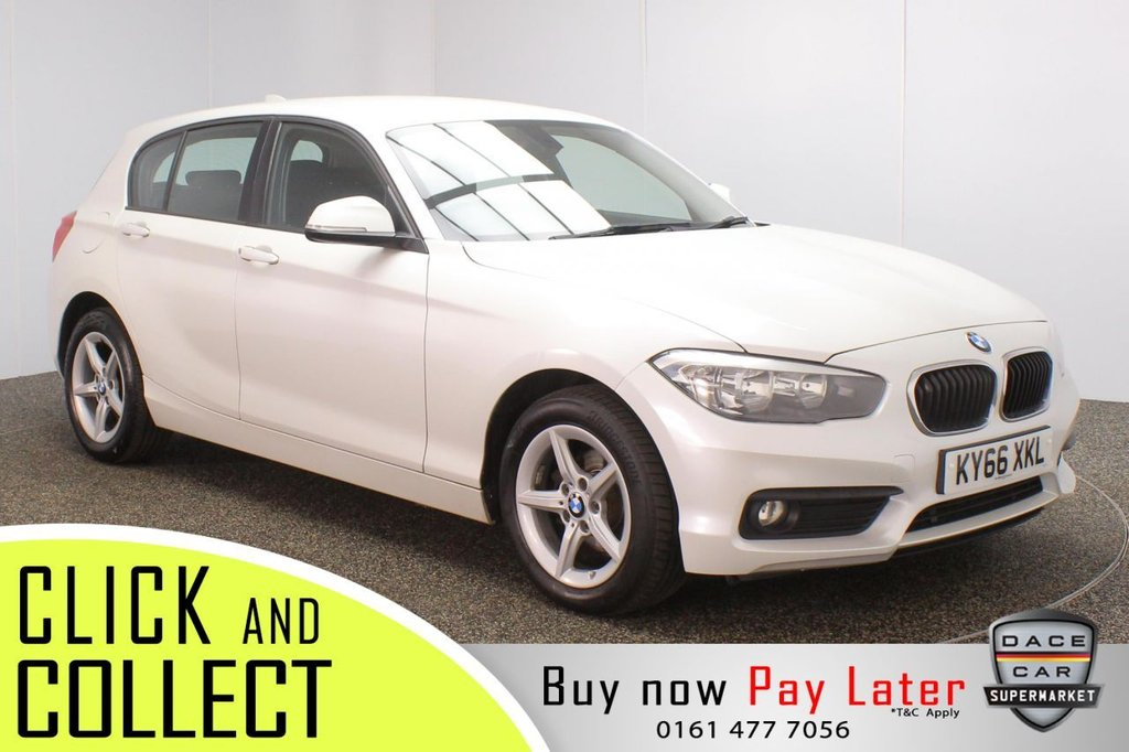 USED 2016 66 BMW 1 SERIES 1.5 116D SE 5DR 1 OWNER 114 BHP FULL SERVICE HISTORY + FREE 12 MONTHS ROAD TAX + SATELLITE NAVIGATION + BLUETOOTH + MULTI FUNCTION WHEEL + AIR CONDITIONING + DAB RADIO + ELECTRIC WINDOWS + ELECTRIC MIRRORS + 16 INCH ALLOY WHEELS