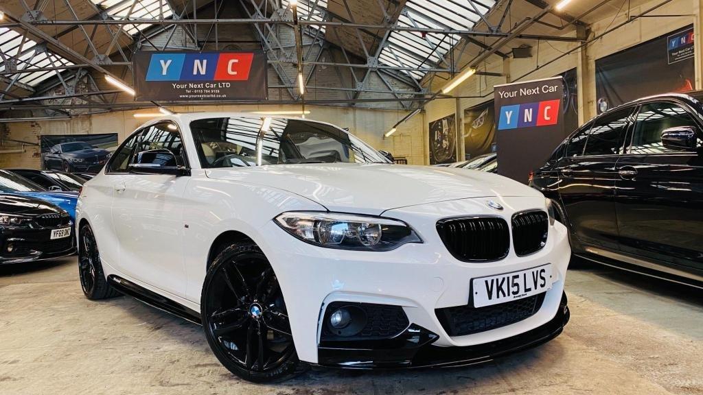 USED 2015 15 BMW 2 SERIES 2.0 218d M Sport (s/s) 2dr PERFORMANCEKIT+18S+ALPINEWITE