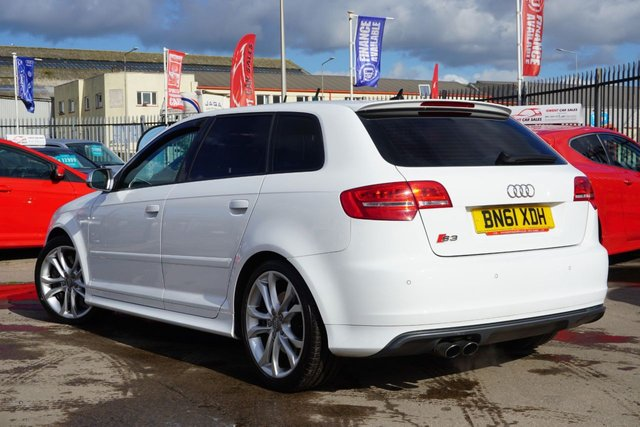 USED 2011 61 AUDI A3 2.0 S3 QUATTRO 5d 265 BHP GREAT EXAMPLE .FRESH WHITE