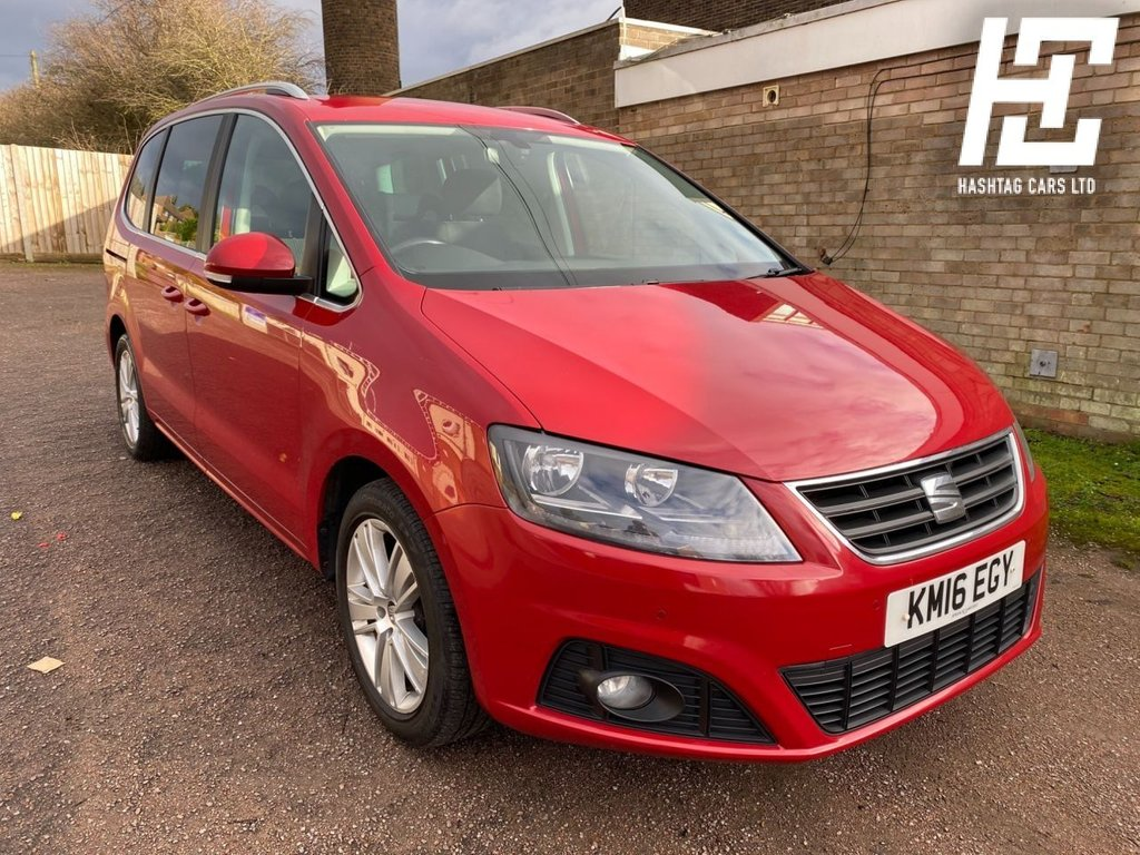 USED 2016 16 SEAT ALHAMBRA 2.0 TDI ECOMOTIVE SE 5d 150 BHP EURO6ULEZ COMPLIANT/GREAT SPEC/B/TOOTH+AUX+FDSH+AIRCON+DAB+USB+ABS