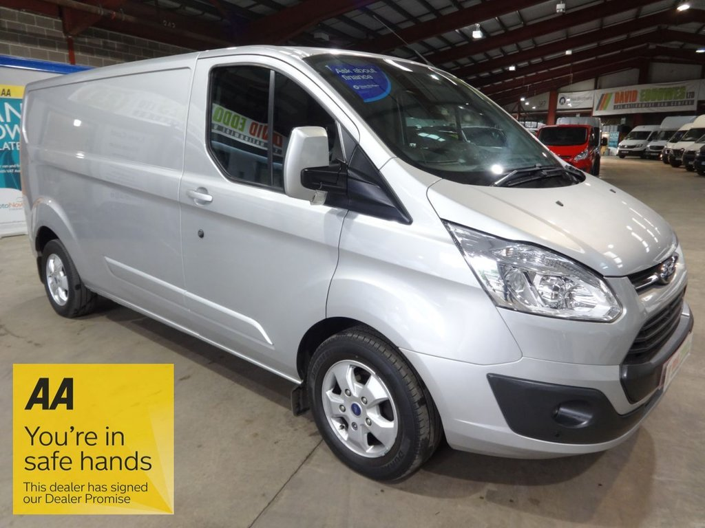 USED 2017 17 FORD TRANSIT CUSTOM 2.0 290 LIMITED LR P/V 129 BHP L2 LWB VAN - EURO 6 - - AA DEALER PROMISE - TRADING STANDARDS APPROVED -