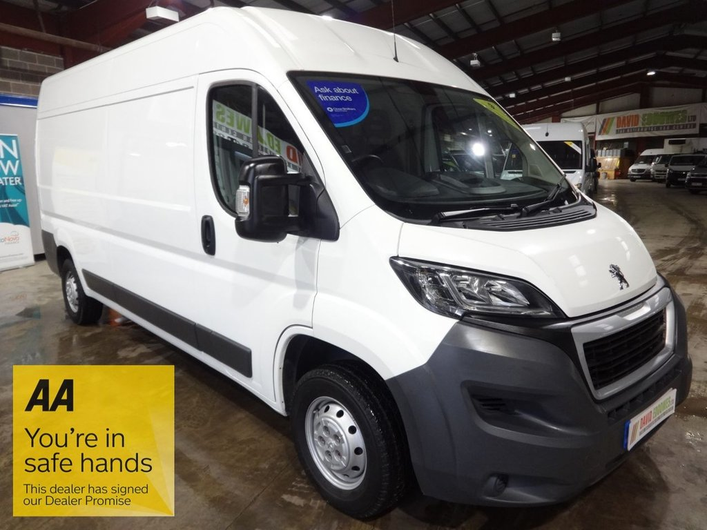 USED 2017 67 PEUGEOT BOXER 2.0 BLUE HDI 335 L3H2 PROFESSIONAL P/V 130 BHP LWB HI ROOF VAN - AA DEALER PROMISE - TRADING STANDARDS APPROVED -