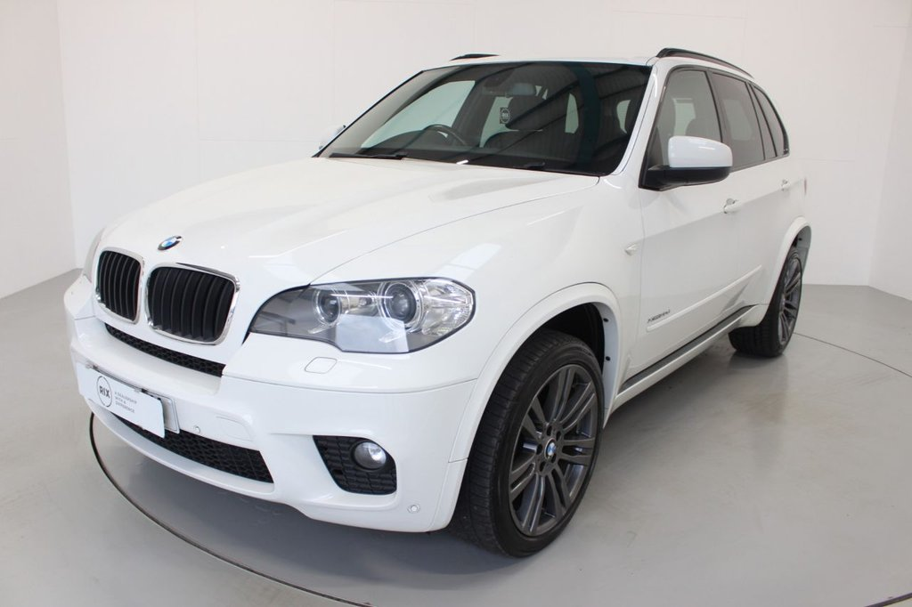 USED 2012 12 BMW X5 3.0 XDRIVE30D M SPORT 5d-2 OWNER CAR-HEATED BLACK DAKOTA LEATHER-BLUETOOTH-CRUISE CONTROL-PROFESSIONAL NAVIGATION-DAB RADIO-ELECTRIC MEMORY SEAT-CLIMATE CONTROL