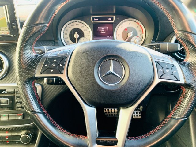 """USED 2014 14 MERCEDES-BENZ A-CLASS 2.1 A220 CDI BLUEEFFICIENCY AMG SPORT 5d 170 BHP FULL MERCEDES SERVICE HISTORY - DYNAMIC HANDLING PACK - 18"""" AMG ALLOY WHEELS - SATELLITE NAVIGATION - HEATED LEATHER SPORT SEATS - 2 KEYS"""