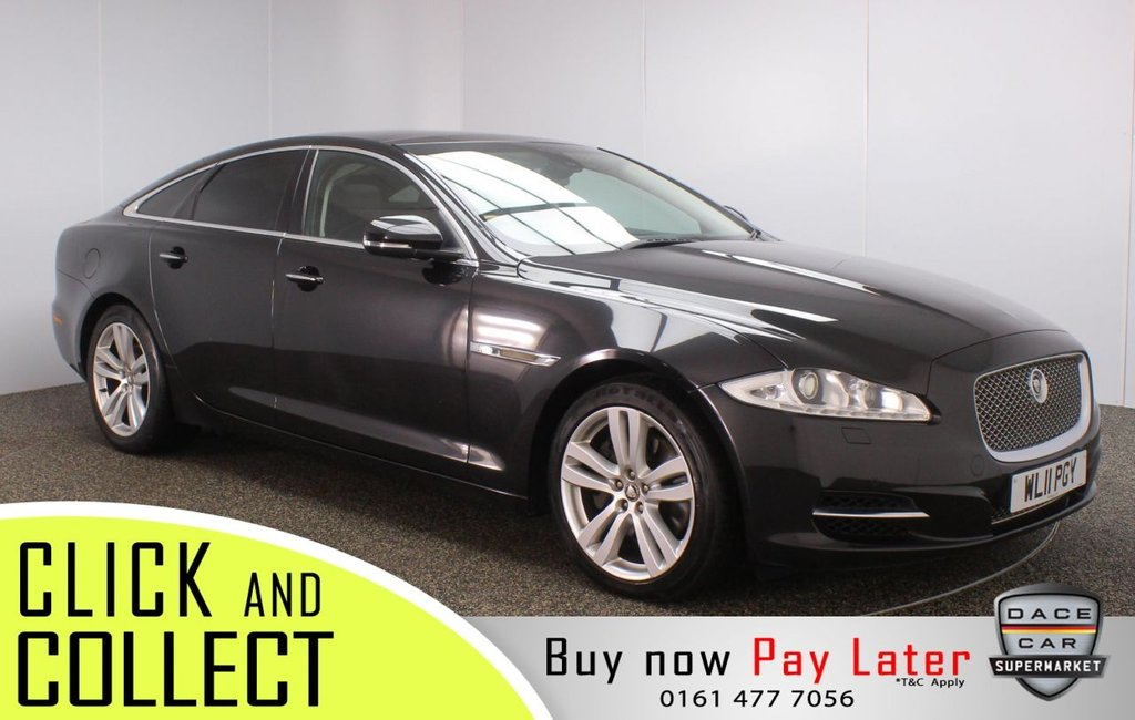 USED 2011 11 JAGUAR XJ 3.0 D V6 PREMIUM LUXURY SWB 4DR 275 BHP FULL SERVICE HISTORY + HEATED/COOLED LEATHER SEATS + SATELLITE NAVIGATION + PANORAMIC ROOF + REVERSING CAMERA + PARKING SENSOR + HEATED/COOLED REAR SEATS + DUAL VIEW TOUCHSCREEN + BLUETOOTH + CRUISE CONTROL + CLIMATE CONTROL + MULTI FUNCTION WHEEL + XENON HEADLIGHTS + PRIVACY GLASS + HEATED STEERING WHEEL + ELECTRIC/MEMORY FRONT SEATS + DAB RADIO + AUX/USB PORTS + ELECTRIC WINDOWS + ELECTRIC/HEATED/FOLDING DOOR MIRRORS + 19 INCH ALLOY WHEELS