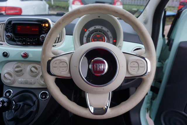 USED 2016 16 FIAT 500 1.2 POP 3d 69 BHP FINSHED IN A SPECIAL SMOOTH MINT PASTEL,