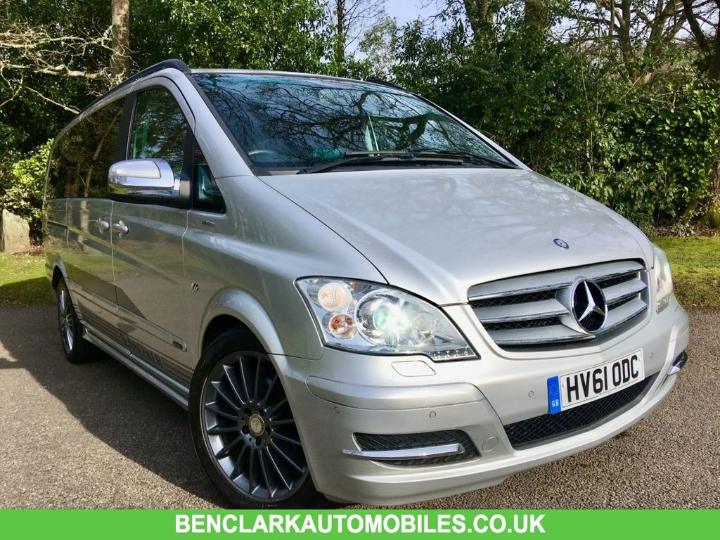 USED 2011 61 MERCEDES-BENZ VIANO 3.0 122 CDI BLUEEFFICENCY AVANTGARDE 5d AUTO 224 BHP //7 BLACK LEATHER SEATS+TABLE GREAT CONDITION FOR THE YEAR INSIDE AND OUT /SUPPLIED BY US IN 2017 NOW BACK IN PART EXCHANGE//LAST SERVICED @59,120 MILES