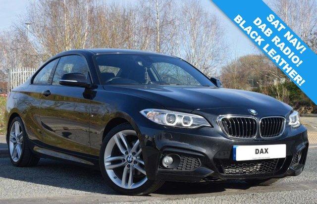 USED 2017 17 BMW 2 SERIES 2.0 218D M SPORT 2d 148 BHP 29,000 MILES! SAT NAV! LEATHER! DAB RADIO! BLUETOOTH!