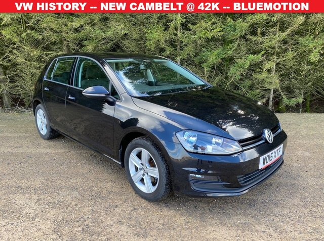 USED 2015 15 VOLKSWAGEN GOLF 1.6 MATCH TDI BLUEMOTION TECHNOLOGY 5d 103 BHP COMPREHENSIVE VW HISTORY -- NEW CAMBELT IN '19 @ 42k -- BLUEMOTION