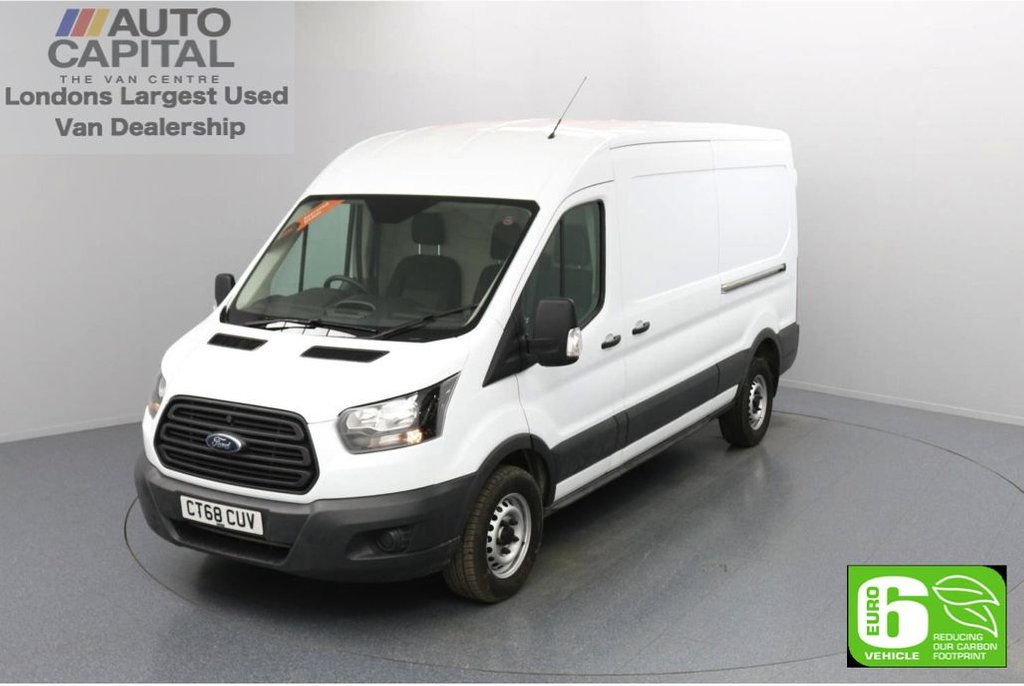 USED 2018 68 FORD TRANSIT 2.0 350 FWD L3 H2 Auto 130 BHP Euro 6 Low Emission Automatic Gearbox | Auto start/ stop system