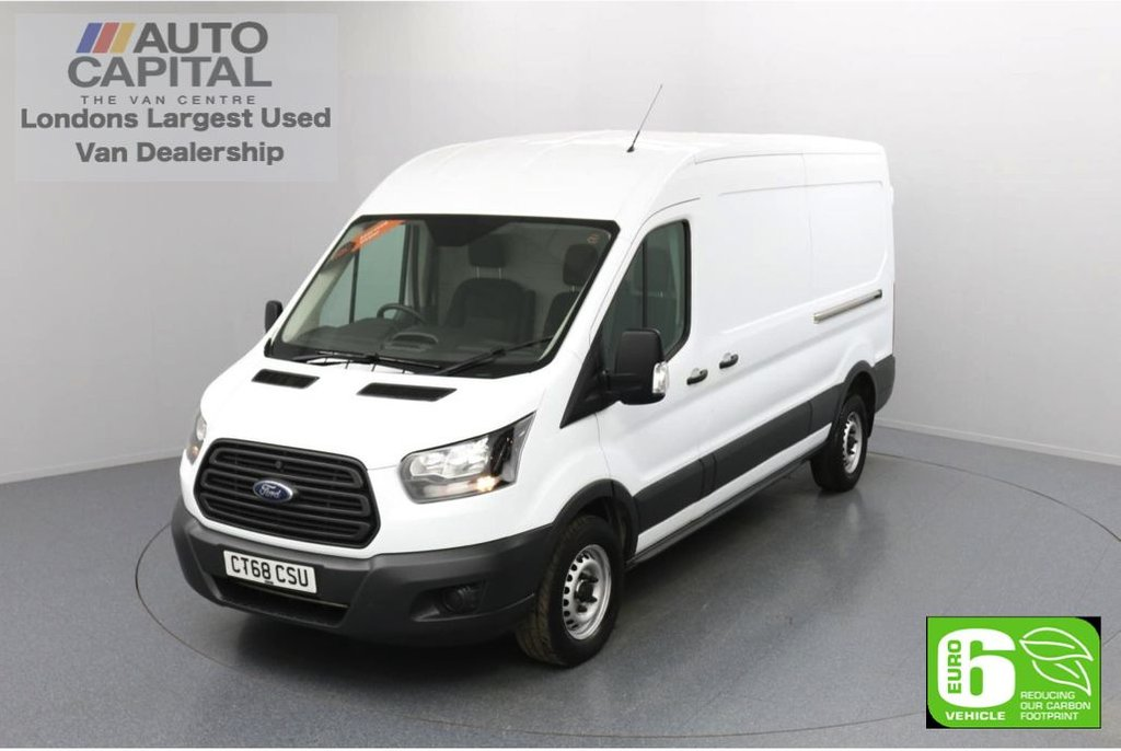 USED 2018 68 FORD TRANSIT 2.0 350 FWD L3 H2 Auto 130 BHP Euro 6 Low Emission Automatic Gearbox   Auto start/ stop system