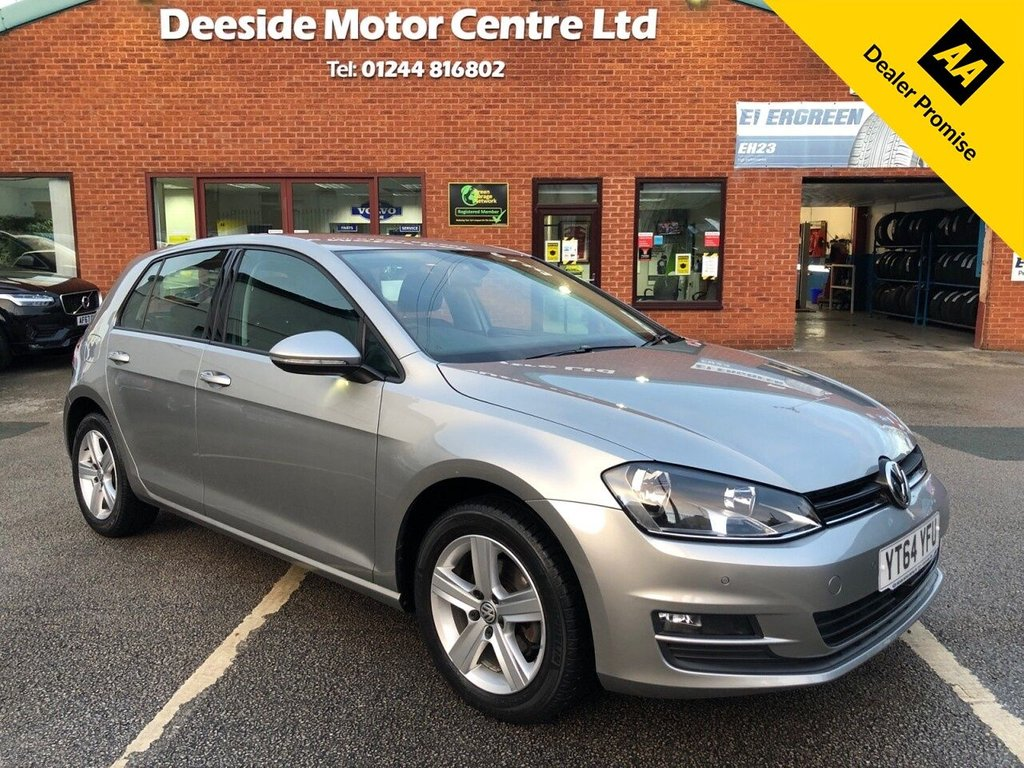USED 2014 64 VOLKSWAGEN GOLF 1.6 MATCH TDI BLUEMOTION TECHNOLOGY DSG 5d 103 BHP Only £20 a year road tax : Bluetooth : DAB Radio : Cloth upholstery : Isofix fittings : Air-conditioning/Climate control : Front + rear parking sensors