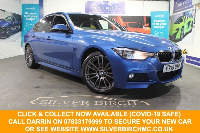USED 2015 15 BMW 3 SERIES 2.0 320D M SPORT 4d 181 BHP 1 owner, £3590 of extras