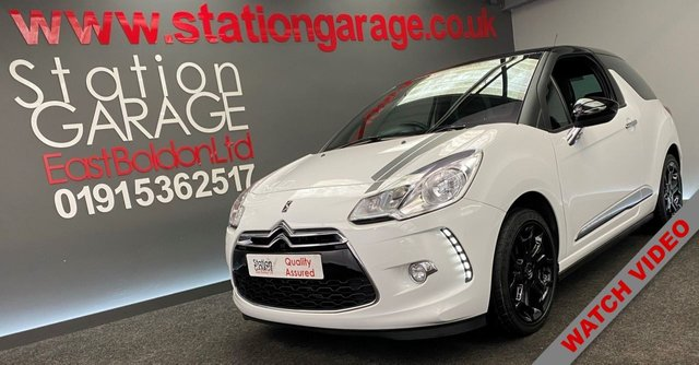 USED 2014 14 CITROEN DS3 1.6 DSTYLE PLUS 3d 120 BHP FULL HISTORY BLACK ROOF&ALLOYS