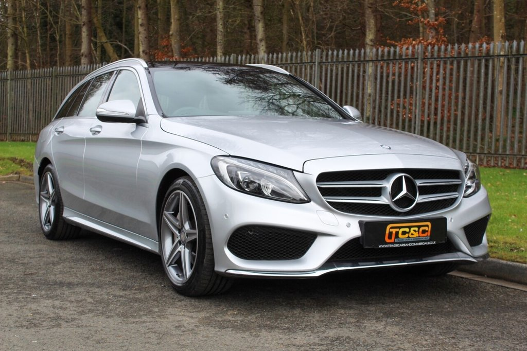USED 2014 64 MERCEDES-BENZ C-CLASS 2.1 C220 BLUETEC AMG LINE PREMIUM PLUS 5d 170 BHP A LOW OWNER, HIGH SPECIFICATION CAR WITH PAN ROOF, BURMESTER, SAT NAV!!!