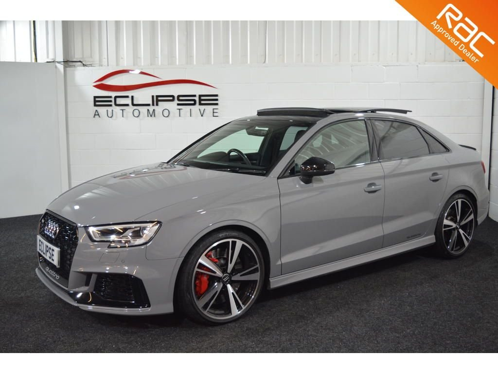 USED 2018 18 AUDI RS3 SALOON 2.5 RS 3 QUATTRO 4d AUTO 395 BHP