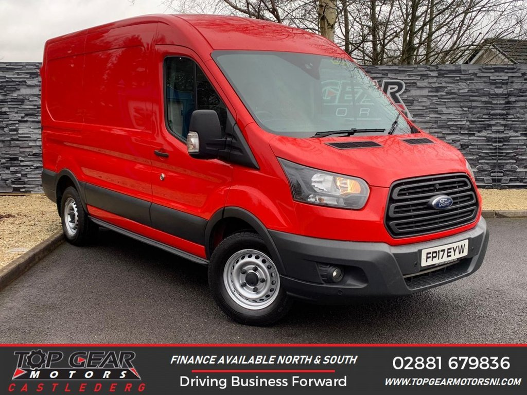 USED 2017 17 FORD TRANSIT 350 2.0 130BHP L2 H2 FWD WORKSTATION A/C  ** A/C, DAB RADIO, PARKING SENSORS ** OVER 90 VANS IN STOCK