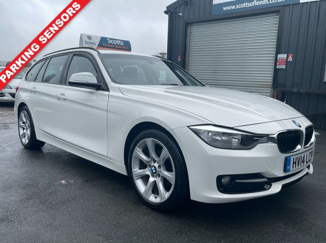 USED 2014 14 BMW 3 SERIES 2.0 316D SPORT TOURING 5 DOOR ESTATE WHITE 1 OWNER BLUETOOTH