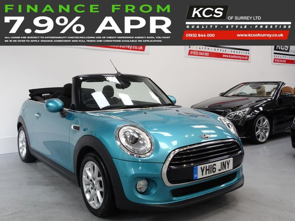 USED 2016 16 MINI CONVERTIBLE 1.5 COOPER 2d 134 BHP CHILI PACK -HTD SEATS -CAMERA