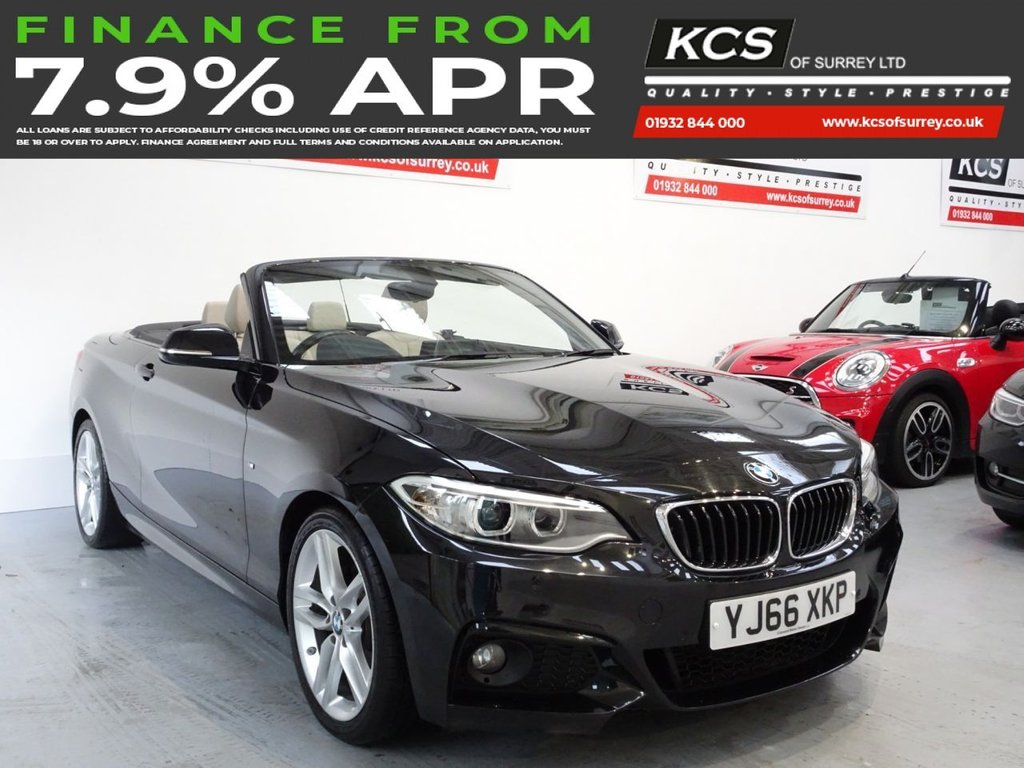 USED 2016 66 BMW 2 SERIES 2.0 220D M SPORT 2d 188 BHP PRO NAV - HTD LEATHER- XENONS