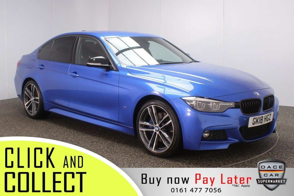 USED 2018 18 BMW 3 SERIES 2.0 330E M SPORT SHADOW EDITION 4DR AUTO 249 BHP + 1 OWNER + HYBRID FULL SERVICE HISTORY + DAKOTA LEATHER SEATS + SATELLITE NAVIGATION + HARMAN/KARDON PREMIUM SPEAKERS + PARKING SENSOR + BLUETOOTH + CRUISE CONTROL + CLIMATE CONTROL + MULTI FUNCTION WHEEL + PRIVACY GLASS + DAB RADIO + USB PORTS + ELECTRIC WINDOWS + ELECTRIC MIRRORS + 19 INCH ALLOY WHEELS