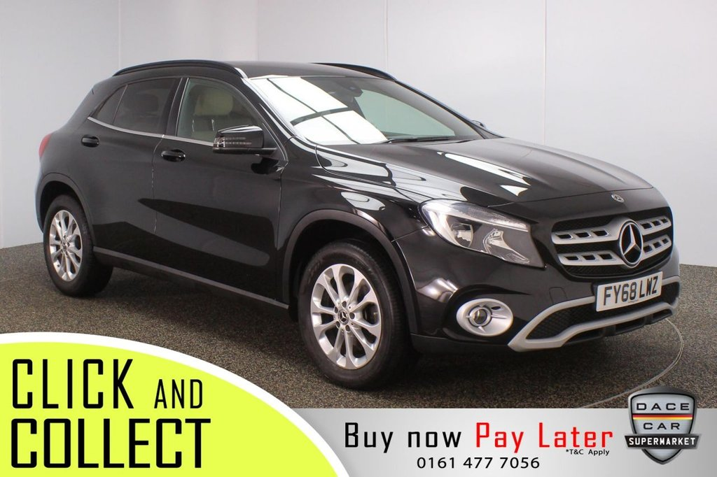 USED 2018 68 MERCEDES-BENZ GLA-CLASS 1.6 GLA 200 SE 5DR AUTO 154 BHP + FULL LEATHER + 1 OWNER  FULL SERVICE HISTORY + LEATHER SEATS + REVERSING CAMERA + BLUETOOTH + CRUISE CONTROL + AIR CONDITIONING + MULTI FUNCTION WHEEL + PRIVACY GLASS + DAB RADIO + USB PORT + ELECTRIC WINDOWS + ELECTRIC MIRRORS + 17 INCH ALLOY WHEELS