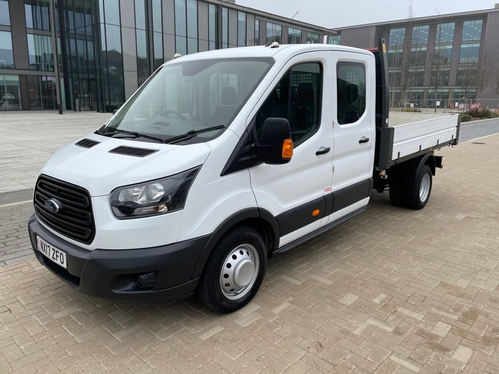 USED 2017 17 FORD TRANSIT 350 2.0TDCI EURO 6 130ps L3 D/Cab 7 Seats *Alloy Body*Twin Rear Wheel* GREAT FINANCE RATES AVAILABLE!
