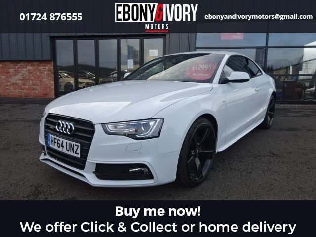 USED 2014 64 AUDI A5 2.0 TDI QUATTRO BLACK EDITION S/S 2d 174 BHP+HEATED FRONT SEATS+SAT NAV+FOLDING MIRRORS+PARKING SENSORS+LEATHER-STUNNING FANTASTIC EXAMPLE+MASSIVE FACTORY SPECIFICATION