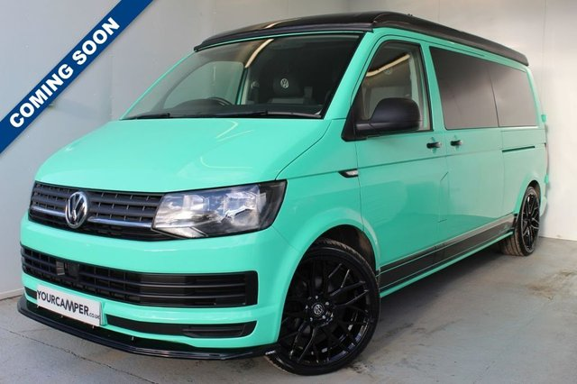 USED 2018 68 VOLKSWAGEN TRANSPORTER T28 2.0 TDI BLUEMOTION LWB AIR CON ONE OWNER / AIR CON / HISTORY / NEW CONVERSION