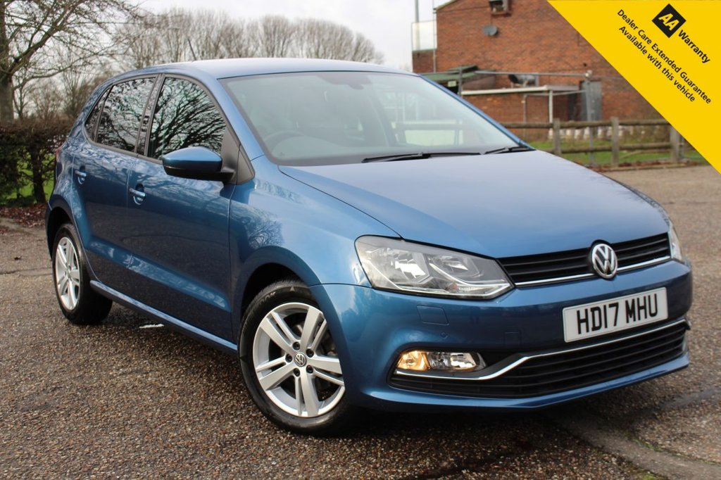 USED 2017 17 VOLKSWAGEN POLO 1.2 MATCH EDITION TSI DSG 5d 89 BHP ** FULL VOLKSWAGEN SERVICE HISTORY ** BRAND NEW ADVISORY FREE MOT - EXPIRY FEB 2022 ** UPGRADED WINTER PACK - HEATED SEATS ** POWER FOLD MIRRORS ** FRONT + REAR PARKING AID ** AUTO LIGHTS + WIPERS ** CRUISE CONTROL ** BLUETOOTH ** DAB RADIO ** APPLE CAR PLAY / ANDROID AUTO **  CLCIK & COLLECT + NATIONWIDE DELIVERY AVAILABLE ** BUY ONLINE IN CONFIDENCE FROM A MULTI AWARD WINNING 5* RATED DEALER **