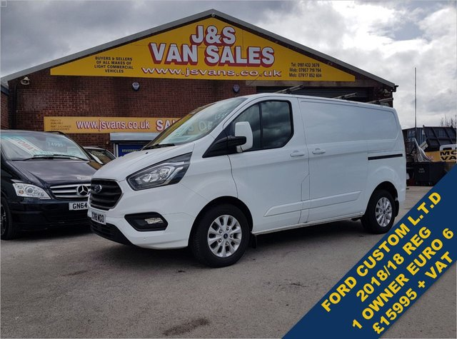 USED 2018 18 FORD TRANSIT CUSTOM 2.0 300 LIMITED P/V L1 H1 130 BHP  EURO 6 MODEL BIG STOCK EURO 6 OVER VANS OVER 100 ON SITE
